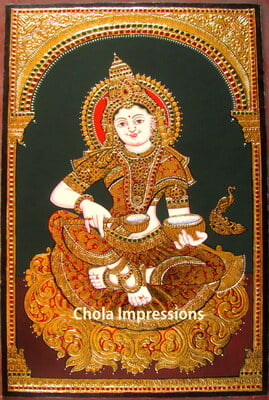 Annapurni Tanjore Painting - Chola Impressions Exclusives
