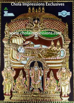 Renganathar Tanjore Painting - 2 ft x 1.5 ft