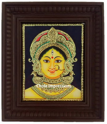 Devi Durga - Bengal Style Tanjore Painting - Various sizes