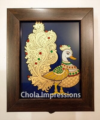 Royal Swan Reverse glass painting Jewel Box