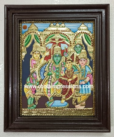 Ramar Pattabishegam Tanjore Painting - 1.5 ft x 1.25 ft - Exclusive Collection