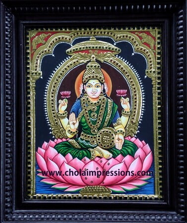 Lakshmi Devi Tanjore Painting - 1.5 ft x 1.25 ft - Chola Impressions Exclusive Collection
