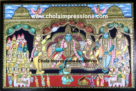 Ramar Pattabishegam Exclusive painting - 3.5 ft X 2.5 ft
