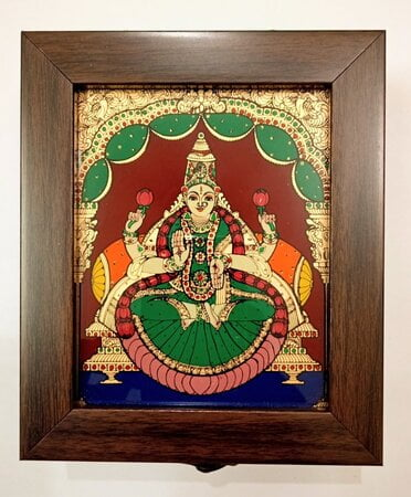 Lakshmi Reverse glass painting Jewel Box