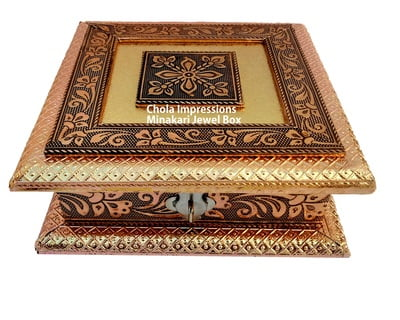 Minakari Jewel Box/ Dry fruit Box with Partition - German Oxodise