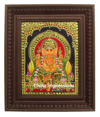 Ganesh Tanjore Painting - Medium Sizes