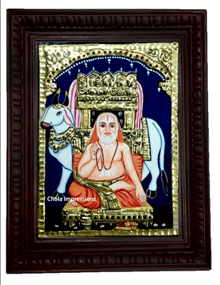 Sri Raghavendra Swami Tanjore Painting - From Small Sizes