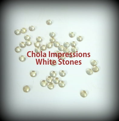 White Tanjore Stones- Pack of 100